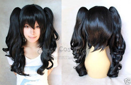 $enCountryForm.capitalKeyWord NZ - shun Hot heat resistant Party hair>>>>>Beautiful wig New Short black cosplay women's wig long curly pigtails wigs 10.21