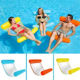 Toptan satış Sıcak Moda Şişme Yüzer Su Hamak Lounge Yatak Sandalye Yaz Kickboards Havuz Float Yüzme Havuzu Şişme Yatak Plaj Aracı Çalma