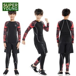 Children S Leggings Tights Australia - Children Sportswear Compression Running Jogging Suits Leggings Mens Gym Fitness Clothing Sets Kids Boys Outdoor Tight Sport Wear #329526