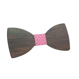 girl bowties UK - Girl New Wooden Men Bow Tie Butterfly Wooden Bowties For Party Shirts Clothes Bowties