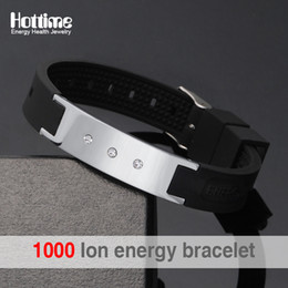 power energy balance 2019 - Black Power Energy Hologram Bracelets Wristbands Keep Balance Ion Magnetic Therapy Fashion Silicone Bands Free Shipping