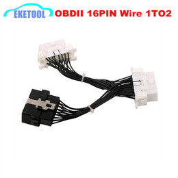 ElEctronics cablEs connEctors online shopping - Quality A Newest OBD Y Splitter Extension Cable OBD2 PIN Male to Female ELM327 Electronic Wire Connector