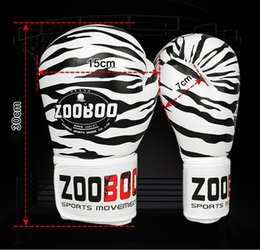 twin gear NZ - Fitness Supplies Zooboo Pu Leather Tiger Print Boxing Gloves Mma Twins Fighting Punching Gloves Kick Muay Thai Gym Training Boxing Gear