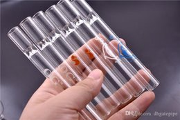 $enCountryForm.capitalKeyWord Australia - 3 style Glass Straw Tube Cigarette Filter Pipes Glass Filter Tips Thick Pyrex Glass Smoking Pipes Cheap Cigarette Holder in stock