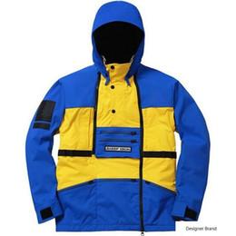 $enCountryForm.capitalKeyWord Australia - T X S Steep Tech Hooded Jacket Men Women Pullover Coats Fashion Outerwear Top Quality Blue Yellow S~XL HFTTJK0161