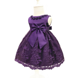 flowering dress UK - Flower Girl Dresses Birthday Infant Baby Girls Wedding Pageant 2017 Summer Princess Party Dresses Children Clothes Christmas 0-2 J190506