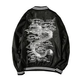 China Style Jacket Australia - good quality Dropshipping Suppliers Usa Dragon Embroidery Jacket China Style Fashion Black Coat Us Size Xs-3xl