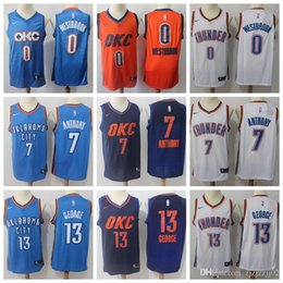 30a06d753d8 Mens Oklahoma 0 Russell Paul Westbrook George City okc Williams Heats LA  Miami Wade Clippers Dwyane 23 Lou Thunder basketball Jersey