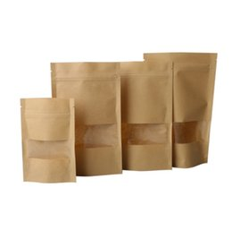 $enCountryForm.capitalKeyWord UK - 100pcs Brown Kraft Paper Gift Candy Bags Wedding Packaging Bag Recyclable Food Bread Party Shopping Bags For Boutique Bulk Food Storage