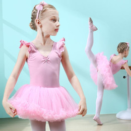 $enCountryForm.capitalKeyWord Australia - Professional Ballet Tutu Costumes Kids Princess Dress Pink Purple Ballet Dress Children Girls Gymnastics Leotard Dancewear