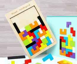 $enCountryForm.capitalKeyWord Australia - Tetris factory direct wholesale wooden jigsaw wooden building block games jigsaw puzzle toys for children