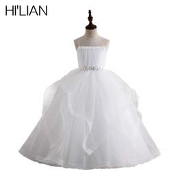 $enCountryForm.capitalKeyWord Australia - HI'LIAN Flower Girl Dresses Luxury Applique With Beads Ball Gown For Girls Vestido Daminha For Wedding Formal Occasion