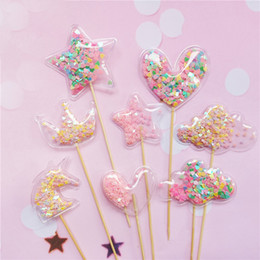 $enCountryForm.capitalKeyWord Australia - Bling Fairy Transparent Star Crown Cloud Shiny Cake Topper Baby Shower Birthday Cupcake Topper Wedding Party Cake Decoration