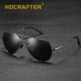 a8630db52fa HDCRAFTER Fashion Polarized Sunglasses Men Alloy Frame Mirror Pilot Sun  Glasses For Men UV400 Driving Eyewear Oculos Shades