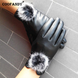 $enCountryForm.capitalKeyWord Australia - Windproof warm Fleece Texting Lined Touchscreen Autumn Gloves Leather Winter Pair Warm Synthetic keep Driving Women and