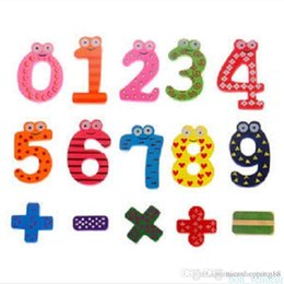$enCountryForm.capitalKeyWord Australia - T63 Free Shipping Children's Christmas Creative gifts Kids wooden toys magnetic stickers Arabic numbers fridge magnets for childrendand
