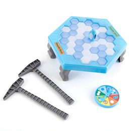 wall puzzle Australia - Board Game Save Penguin Icebreaker Demolition Wall Chisel Ice Toys Early Childhood Education Desk Puzzle Game Beat Penguins