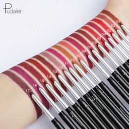 Silky eyeShadow online shopping - Pudaier Colors Silky Matte Lipliner Long Lasting Moisturizer Women Lip Liner Pencil Waterproof Eyeshadow Liner Pen Nude Lip Cosmetic