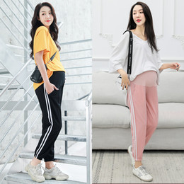 Thin Cotton Trousers Australia - Pregnant women pants thin outside wearing panties summer nine sports pants cotton hemp casual trousers pregnant women's summer clothes