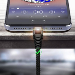 Chinese  LED Lighting Micro USB Cable 3A Fast Charging Charger Microusb Cord For Android Tablet USB Type C Cable Type-c Light Cable For Samsung S10 manufacturers