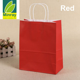 free kraft paper Australia - Wholesale kraft paper bag With Handles Ideal For Shopping Merchandise Retail,Party,Environment Friendly Bake Gift Bags 22x11x28cm Fedex Free