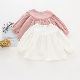 $enCountryForm.capitalKeyWord Australia - Autumn Children's Clothes Girls Blouses Solid Latern Sleeve A Line Ruffles Baby Girl Blouses Kids Causal Princess Shirts Top