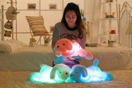 Discount teddy night light - Kawaii Teddy Dog Luminous Soft Plush Toys 50cm Colorful Night Light Led Lovely Dog Stuffed and Plush Toys Children Kids