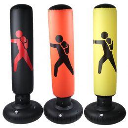 Vente en gros 160cm gonflable de boxe Sac Adulte Enfant de boxe punch Kicking Sandbag PVC gonflable Tumbler Gym enfants Target Training