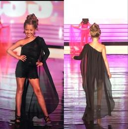 Wholesale black chiffon jumpsuit for sale – dress 2020 Runway Black One Shoulder Chiffon Girls Pageant Dresses Lace Appliqique Jumpsuit Children Graduation Dress Flower Girls Dresses BC2269