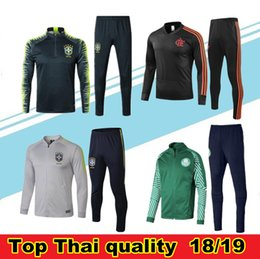 football suits 2019 - Brazil football tracksuit 2018 -19 Chandal SE Palmeiras soccer jacket Training suit 18 19 camisas de futebol Flamengo tr