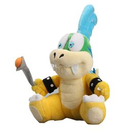 "larry koopa plush toy Australia - New arrival 100% Cotton 8"" 20cm Super Mario Koopalings Larry Koopa Plush Stuffed Toys For Child Gifts"