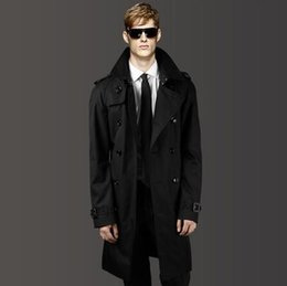 c3c45ce222f Mens trench coats man Double-breasted long coat men casual clothes slim fit overcoat  long sleeve 2019 new designer black korean