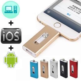 32g Drives Australia - 3 in 1 OTG Usb Flash Drive 128GB 16G 32G 64GB Pen drive HD external storage memory stick For iphone 7 7 Plus 6 6s Plus 5S ipad Pendrive