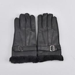 $enCountryForm.capitalKeyWord UK - Wool Genuine Leather Sheepskin Gloves Sheep Fur Mittens Elegant Warm Gloves