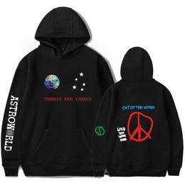 $enCountryForm.capitalKeyWord Australia - Astroworld Mens Designer Hoodies Spring 2019ss Thrills Chills Letters Printed Hooded Sweatshirts