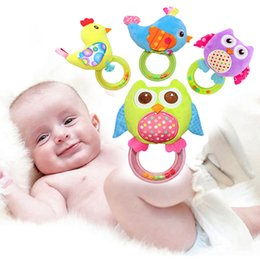 soft animal baby rattles Australia - Soft Newborn Baby Toys for Children Cartoon Animal Infant Toddler Rattle Plush Mobile Toy Kids Educational Toys 0-12 Months