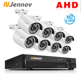 Ip Dvr 8ch Australia - Jennov 8CH 5MP HD AHD Camera DVR Kit Security Camera System CCTV Set Video Surveillance System P2P Night Vision IP Waterproof