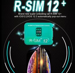 Venta al por mayor de R-SIM12 + R-SIM 12+ R sim12 + RSIM12 + R SIM 12+ Tarjeta de desbloqueo RSIM 12 Para iphone xs max IOS12.2 IOS12.3 iccid unlocking sim