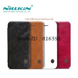 $enCountryForm.capitalKeyWord Australia - wholesale Flip Case For iPhone 5S SE Qin Series PU Leather Cover sFor iPhone 5S Case Cover 4.0 inch