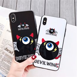 $enCountryForm.capitalKeyWord Australia - For iPhone X Xs Max XR 8 7 6 Plus Phone Case Little Devil Wings Fashion Trend Back Cover Popular Black Non-slip Simple Protective Case