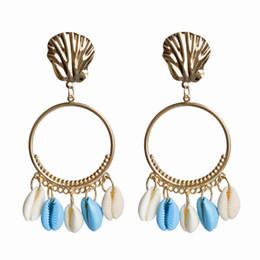 $enCountryForm.capitalKeyWord Australia - fashion shell Earring Hearing Aidearbobear loop long conch earrings luxury designer women earrings Statement Fringe Earring drop ship