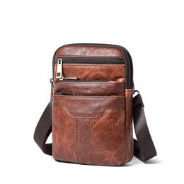 New Fashion Men Bag Flap Genuine Cowhide Leather Shoulder Bag Small  Messenger Bags Men Travel Crossbody Handbags dc1f92ef33