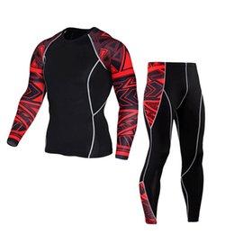 Yoga Men Sport Pants NZ - New Running Sportswear Man Leggings Fitness outdoor Sports Gym Yoga Athletic Pants Shirt set Sport Trousers #4O09 #918367