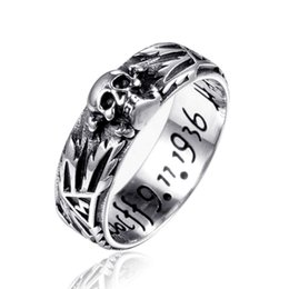 $enCountryForm.capitalKeyWord NZ - Stainless Steel Totem symbol Ring 2018 New Arrival Devil Punk Skull Ring Stainless Steel Polishing Biker Ring for Men Drop Shopping
