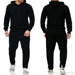 Wholesale men jogging pants for sale - Group buy Brand Pullover Sets Men Tracksuits Casual Hoodies Pants Mens Sportswear Pant Hoody Sweatshirt Male Suits Jogging Sweatpant