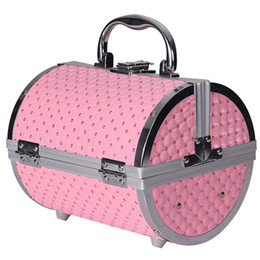 Aluminium mAke up online shopping - 2019 Pillow Design Aluminium Alloy Make Up Box Makeup Case Beauty Case Cosmetic Bag Box Multi Tiers Lockable Jewelry