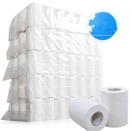 Ingrosso Rotolo di carta igienica del tessuto 4-strato morbido igienica Home Cuscinetti carta liscia 4ply Carta velina toletta tovagliolo KKA7703