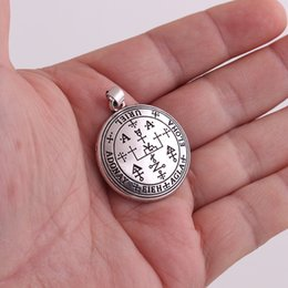compass charm wholesale UK - HL0023 amulet compass pendant vintage viking nordic charm Europe men and women religious jewelry
