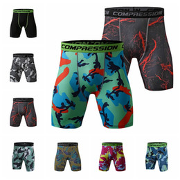 4xl compression shorts NZ - 2019 European fashion sports tights running fitness marathon camouflage quick-drying breathable compression shorts, support mixed batch