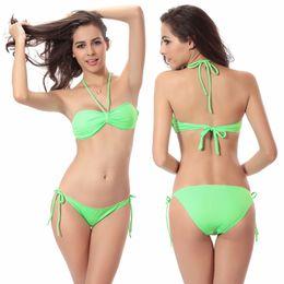 ffffb9d094b16 Victoria Design Removable Neck Halter Butterfly Top Bandage Strappy Swimsuit  2019 Popular Push Up Swimwear Bikini